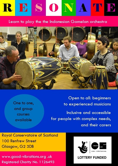 Accessible Gamelan and expressive movement workshops in Glasgow